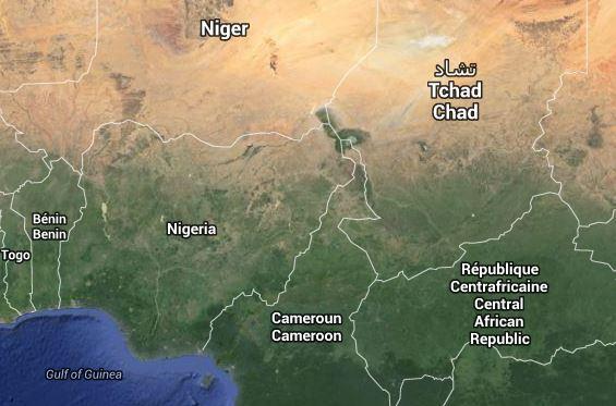 Carte-Nigeria-et-pays-limitrophes-lautreregard